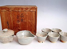 Japanese Hagi ware Tea Set