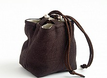 Pouch Tea Ware Cover - Brown