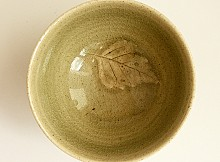 Tea Cup Celadon Leaf 1 JD