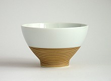 Tea cup Hakusan White - Gold