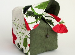 Tea Set Pouch - Poppy - Green
